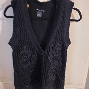 NY & Co. Sz S. Sweater vest Black